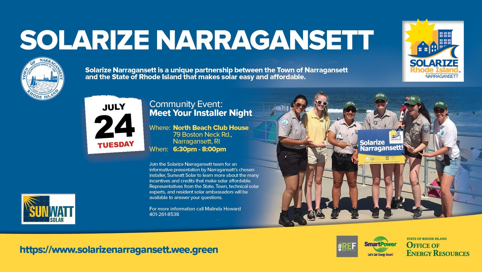 Meet Your Narragansett  Installer Event - Sunwatt Solar