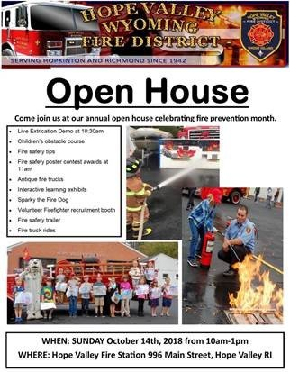 Hope Valley-Wyoming Fire District Open House